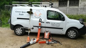 Our electric van and power tools - helping reduce emissions