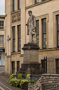 Statue of George Holloway on Rowcroft